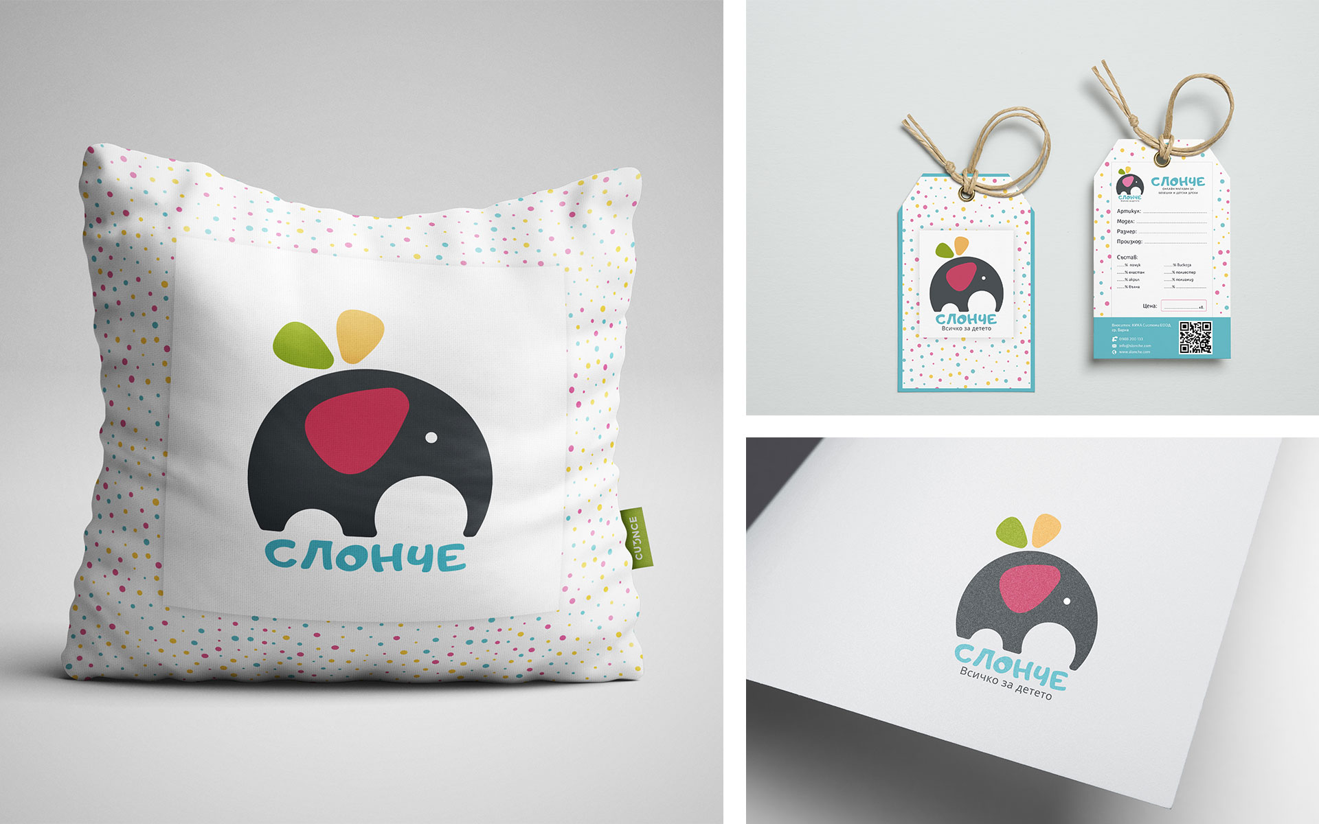 Logo design, branding and paper tag design for online shop